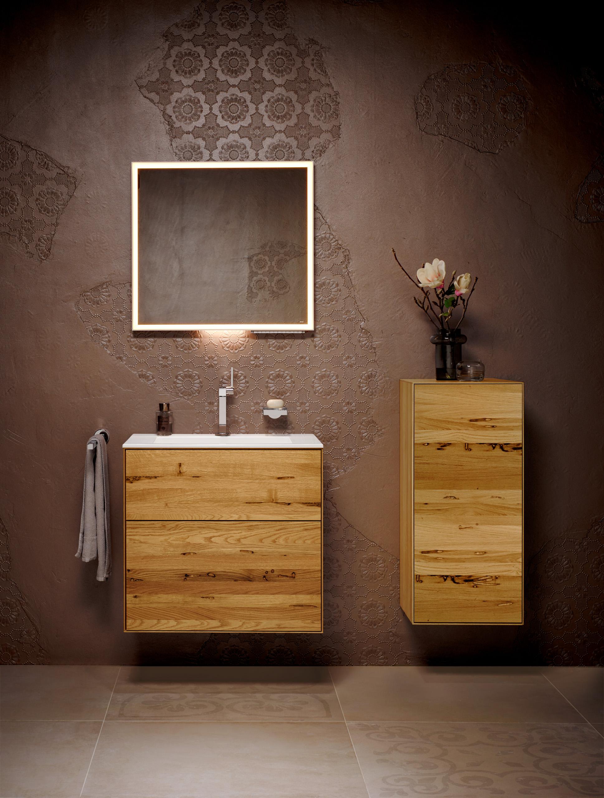 Das Ergebnis aus traditioneller Handwerkskunst von TEAM 7 und der erstklassigen Badkompetenz von KEUCO.